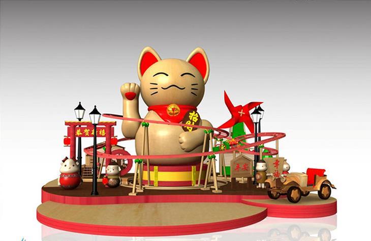 广州乐峰春节美陈雕塑